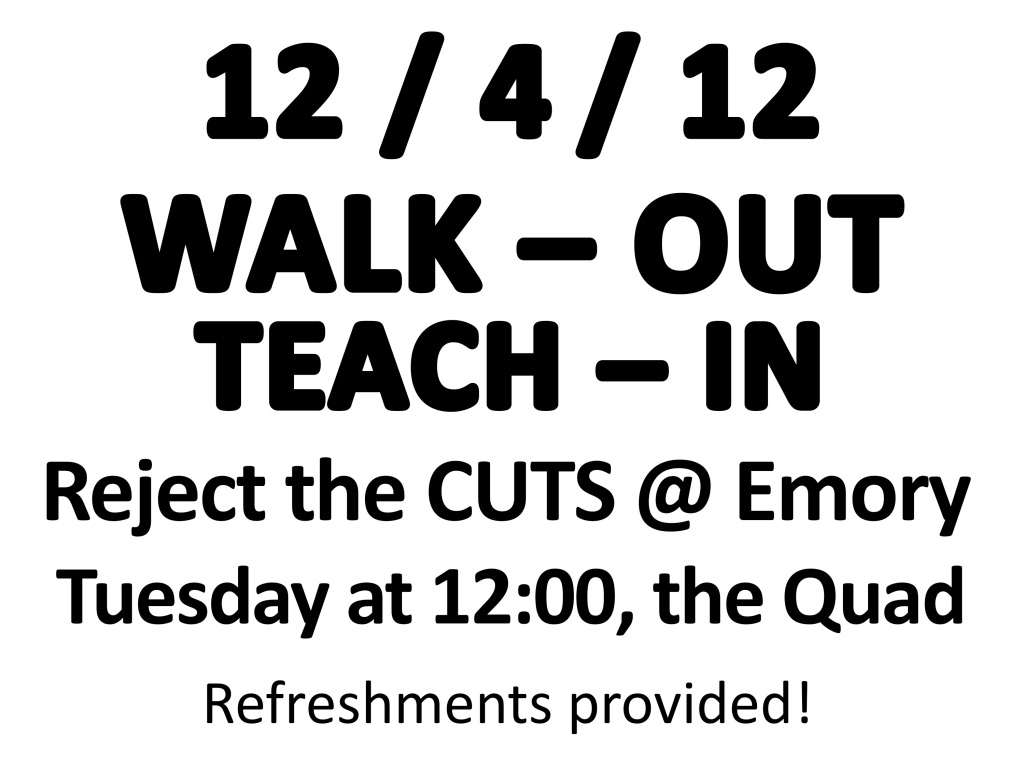 Dec 4 Walk-out, Teach-in