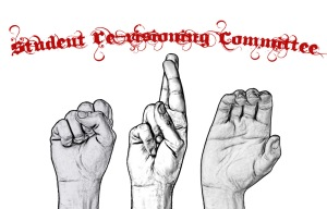 """SRC"" spelled out in American Sign Language"