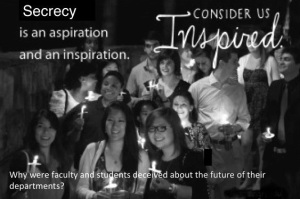 Secrecy: Why were faculty and students deceived?