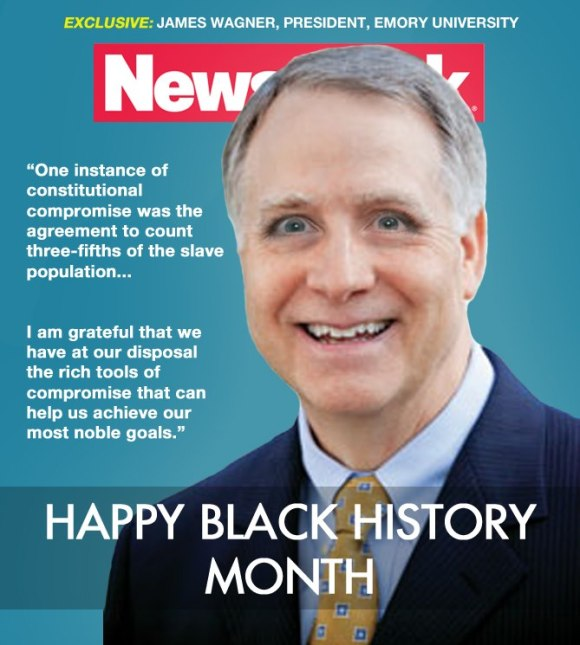 Newsweek magazine: Happy Black History Month, featuring Wagner