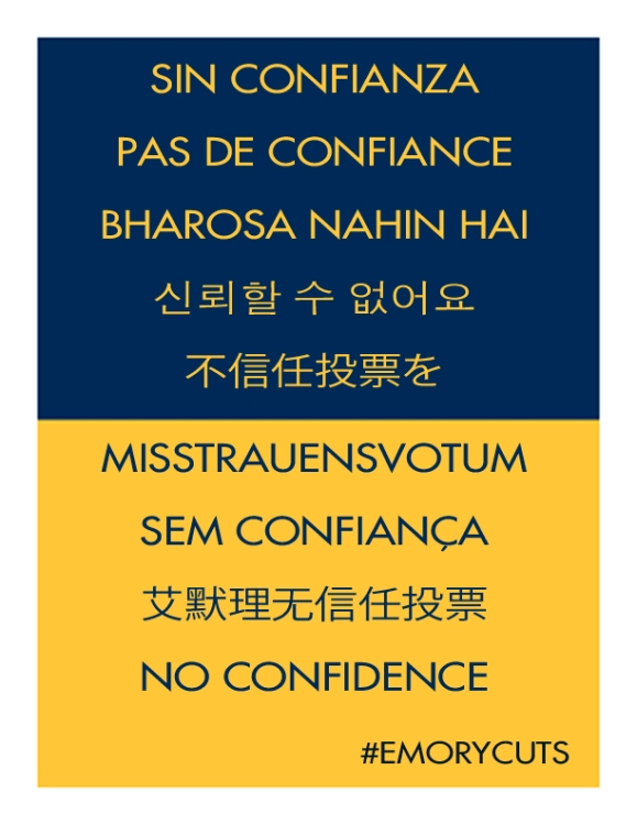 """""""No Confidence"""" in 9 languages"""